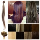 "18"" 20"", 24"" Nail Tip U Tip 100% Real Human Hair Extensions Pre Bonded 50S HC"