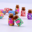10 pcs Mini Glass Polymer Clay Bottles Containers Vials With Corks HC