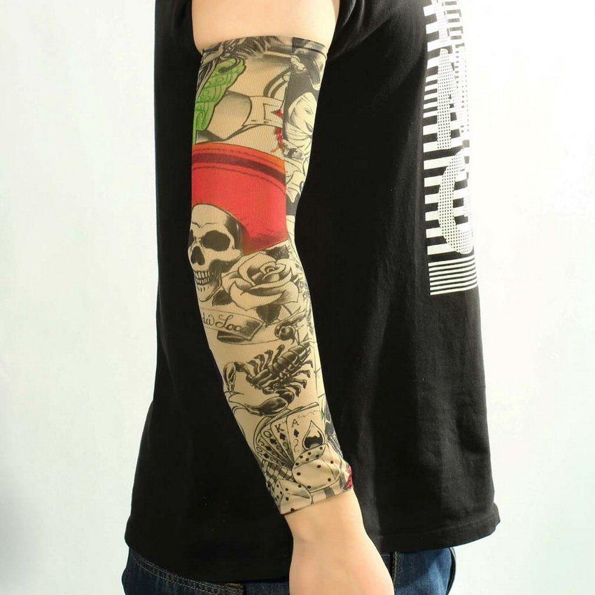 New Fashion Fake Mixed Nylon Fake Temporary Tattoo Art Arm Designs Sleeves HC
