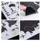 World Map Letter Removable Vinyl Decal Art Mural Home Decor Wall Stickers DIY HC