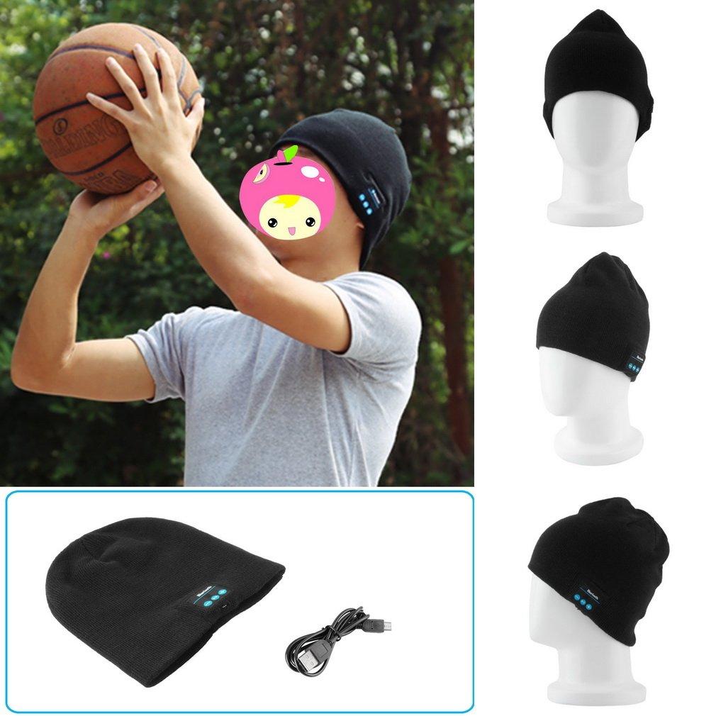 Soft Warm Hat Wireless Bluetooth Smart Cap Headset Headphone Speaker Mic HC