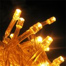 22M 200 LED yellow String Fairy Lights Christmas Wedding Garden Party Easter HC