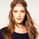 Women Gold Head Chain Headpiece Forehead Hair Band Grecian Boho Accessories HC