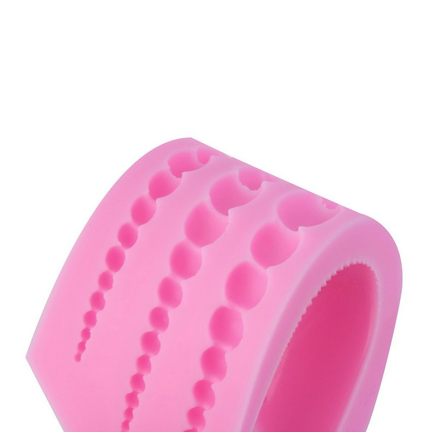 Fashion 3 Size Pearl 3D Chocolate Candy Cake Silicone Fondant Lace Mold Mould HC