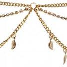 Women Multi-layers Leaves Tassels Headdress Headband Head Chain Hair Band HC