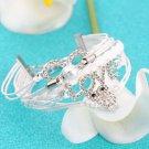 Owl Love Diamond Pearl Leather Friendship Cute Infinity Charming Bracelet HC