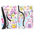 Owl Swing Flower Tree Pattern Wall Decal Removable Stickers Home for Kids HC