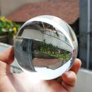 80mm Clear Round Glass Artificial Crystal Healing Ball Sphere Decoration HC