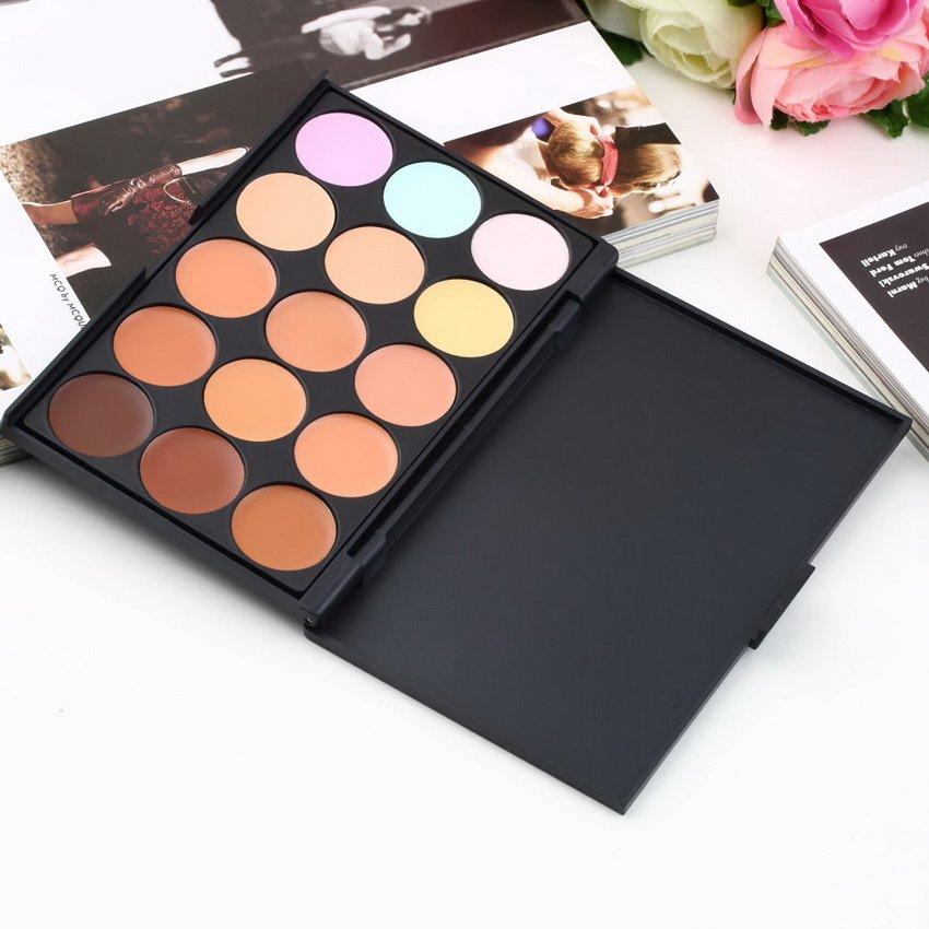 15 Color Pro Makeup Facial Concealer Camouflage Cream Palette Eyeshadow HC