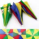 New Multicolor Portable Umbrella Hat Cap Sun Rain Fishing Camping HC