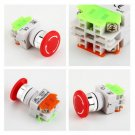 NC N/C Emergency Stop Switch Push Button Mushroom Push Button 4Screw Terminal HC