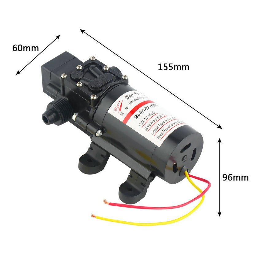 New DC 12V 60W Motor High Pressure Diaphragm Water Self Priming Pump 4.0L/Min HC