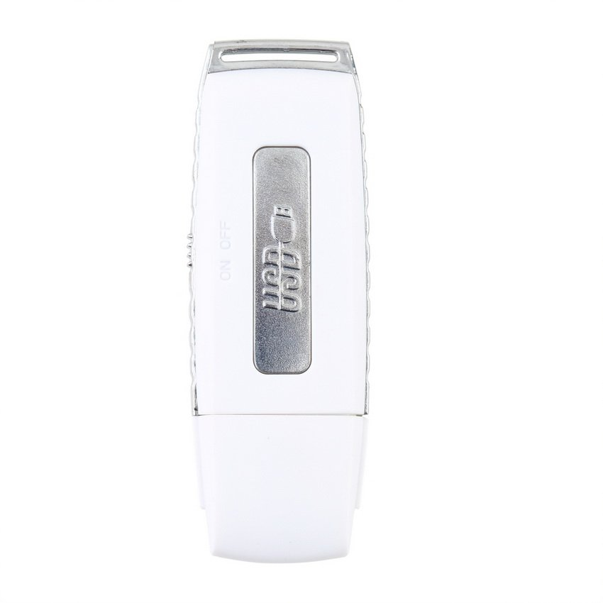 White 8GB Dictaphone USB Flash Disk MEMORY STICK Pen Drive Audio Recorder HC