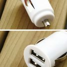 12V Power Dual 2 Port USB Mini Bullet Car Charger Adapter for SmartPhone  HC