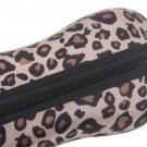 Portable Leopard Zipper Eye Glasses Sunglasses Shell Hard Case Protector Box HC