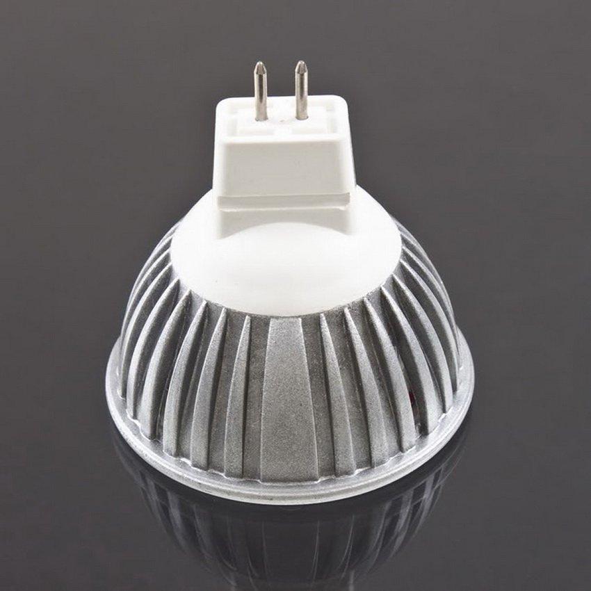 3 LED MR16 3W DC AC 12V Warm / Cool White Spot Light Bulb Lamp Downlight HC