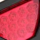 12 LED Car Motorcycle Brake Rear Tail Lamp Flashing Blink Triangle Light 12V HC