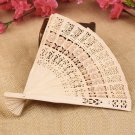 Retro Hollow Folding Wooden Hollow Carved Foldable Hand Fan Gifts HC
