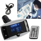 Bluetooth Car Kit MP3 Player FM Transmitter Hands Free Phone SD/USB + Remote HC