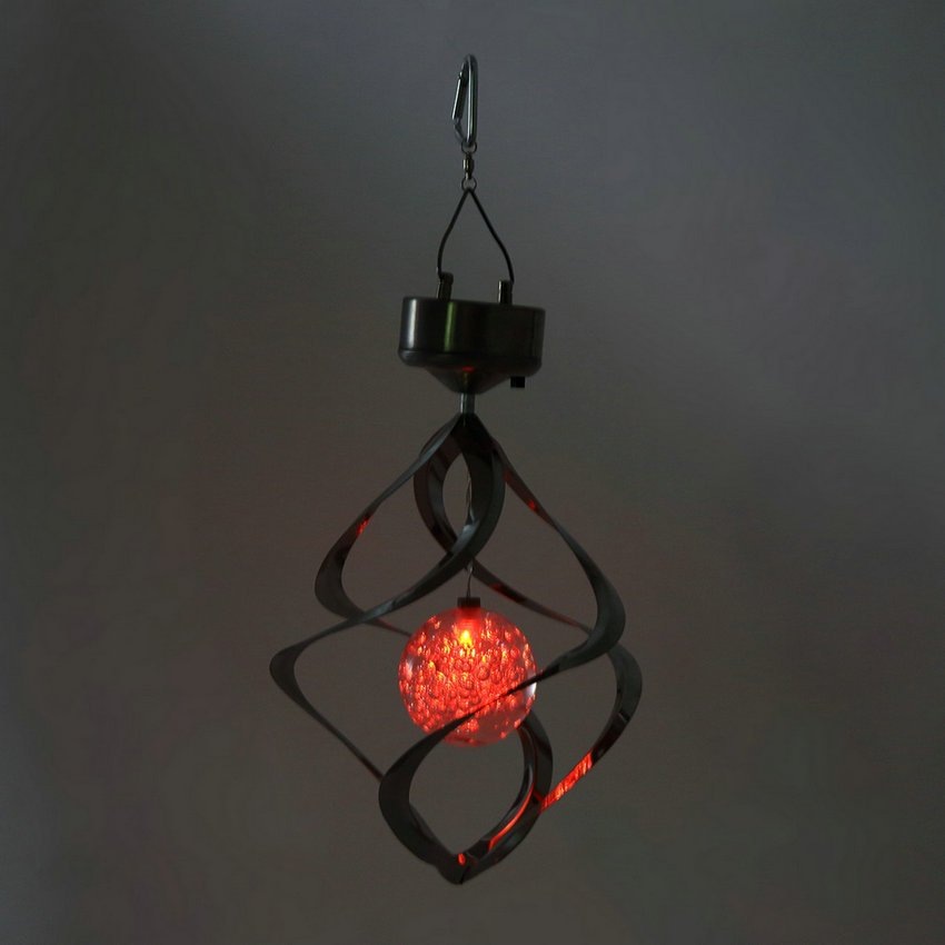 Solar Powered LED Wind Chime Wind Spinner Windchime Outdoor Garden Courtyard HC