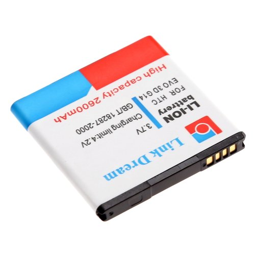 Replacement 2600mAh Rechargeable Battery for HTC EVO 3D G14 G18 G21 HC