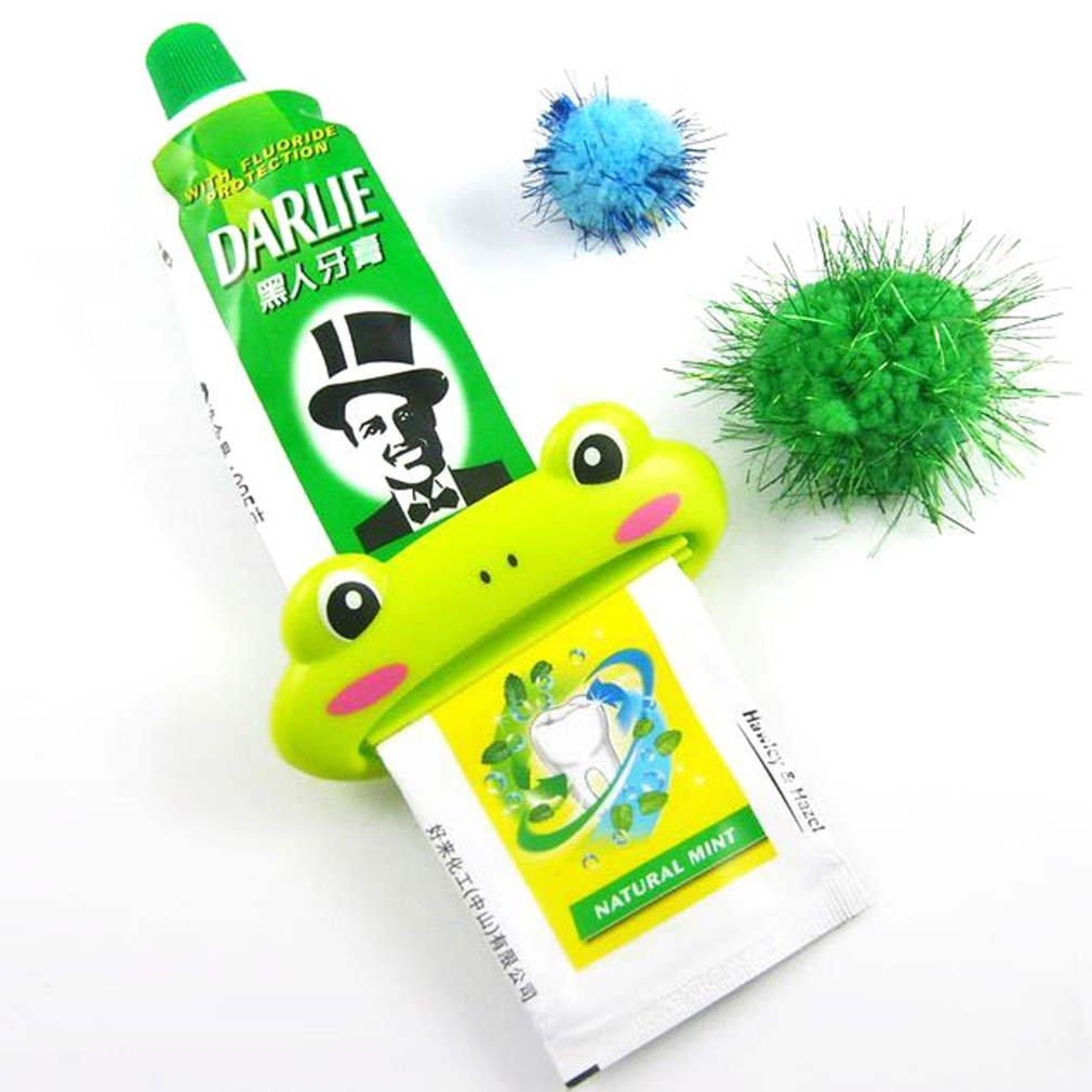 New Cartoon Toothpaste Tube Squeezer Easy Dispenser Rolling Holder Bathroom HC