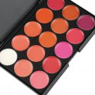 Multi-colored 15 Colors Makeup Palette Cosmetic Gloss Lipstick Lip of One Set HC