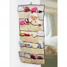 20 Pockets Over Door Cloth Shoe Organizer Hanging Hanger Closet Space Storage HC