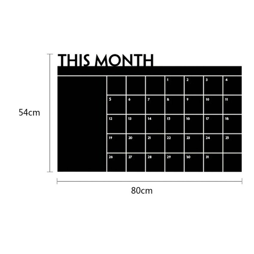 DIY Monthly Planner Chalkboard Blackboard Removable Calendar Wall Sticker HC