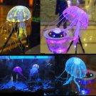 Glowing Effect Artificial Jellyfish Ornament Fish Tank Aquarium Decoration HC