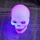 Halloween Colorful Flash LED Skull Night Light Lamp Decoration Gift Favor HC