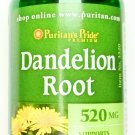 520mg Dandelion Root 100 Quick Release Capsules Natural Dietary Supplement PP