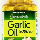 5000mg Garlic Oil 100 Rapid Release Softgels Capsules 500:1 Extract Capsule