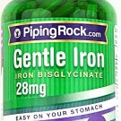 180 Capsules Gentle Iron 28mg Easy On Your Stomach Dietary Supplement Pills