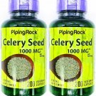 2 Bottles 1000mg Celery Seed 250mg 4:1 Extract 200/400 Capsules