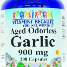 900mg Aged Odorless Garlic Extract 200 Capsules Heart Health Support Pill VB