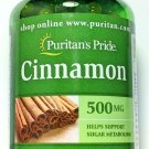 500mg Cinnamon Bark 100 Rapid Release Capsules Sugar Metabolism Support Pill