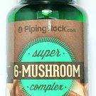 Super 6 Mushroom Complex 60 Capsules Lions Mane Shiitake Reishi Chaga Cordyceps