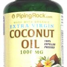 Organic Virgin Coconut Oil 1000mg 100 Softgels Expeller Pressed Extract Capsules