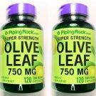 2 Bottles 120/240 Capsule 750mg Olive Leaf Extract 20% Oleuropein SUPER Strength