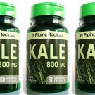 3 Bottles 800mg Kale 4:1 Leaf Extract 60/180 Capsules Herbal Supplement Pills