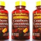 3 Bottles Cranberry 30000 mg 90/270 Capsules Ultra Triple Strength + Vitamin C