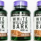 3 Bottles 400mg White Willow Bark 120/360 Capsules Joint Muscle Support