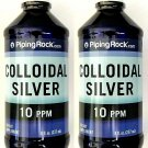 2 Bottles Colloidal Silver Liquid 8/16oz 10 ppm Antibiotic Nano Sol