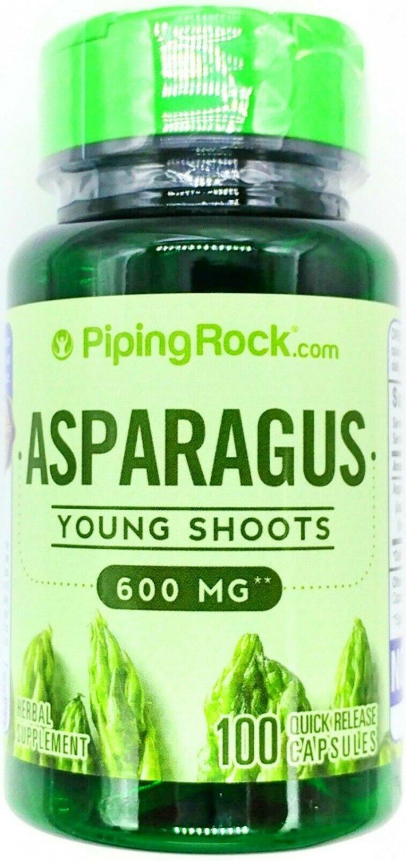 600mg Asparagus Shoots Extract 100 Capsules Vitamin A C K Folic Acid Saponins