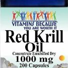 Vitamins Because Red Krill Oil 1000 mg 200 Capsules