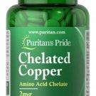 Puritan's Pride Copper Chelate 2 mg 100 Tablets
