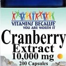 Vitamins Because Cranberry Extract 10000 mg 200 Capsules