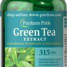 Puritan's Pride Green Tea Standardized Extract 315 mg 200 Rapid Release Capsules