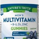 Nature's Truth Men's Multivitamin Gummies + B-12, D3, ZINC 70 Gummies